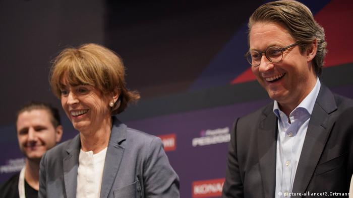 Henriette Reker, Cologne mayor, and Andreas Scheuer (CDU/CSU) (picture-alliance/G.Ortmann)