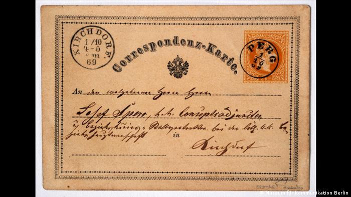 Antigo cartão de correspondência
