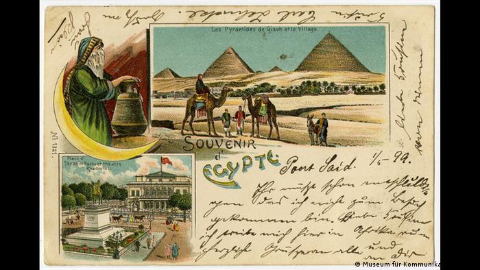 Cartão de 1899, do Egito