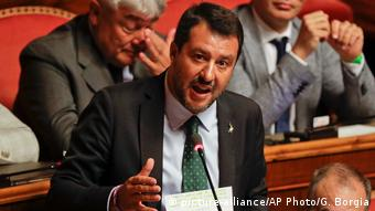 Regierungskrise in Italien | Matteo Salvini (picture-alliance/AP Photo/G. Borgia)