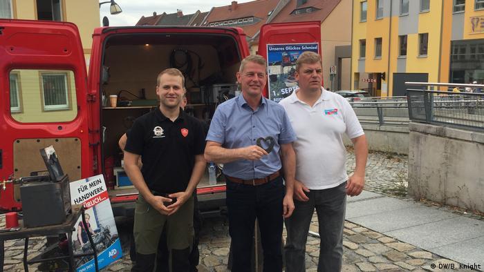 Políticos da AfD na cidade de Bautzen