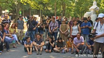 Акция протеста в сквере Мартироса Сарьяна в Ереване