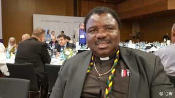 Catholic Bishop David Masupa at the Religions for Peace World Assembly (DW)