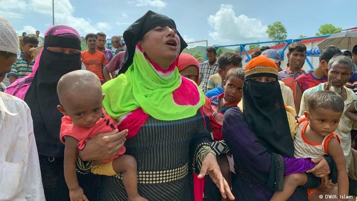 Rohingyas Flüchtlinge kehren nach Myanmar zurück (DW/A. Islam )
