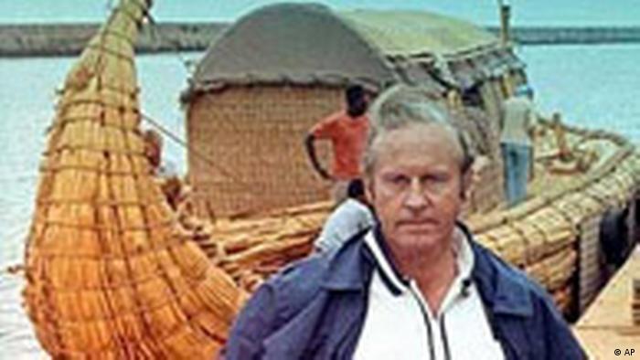 Der norwegische Thor Heyerdahl ist mit 87 Jahren gestorben (AP)