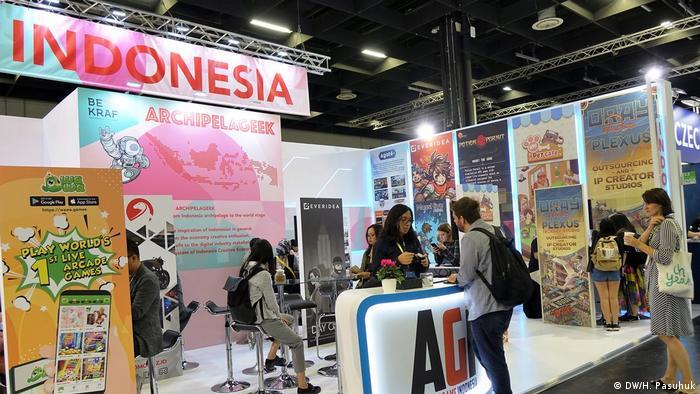 Indonesien auf der Gamescom 2019 in Köln (DW/H. Pasuhuk)