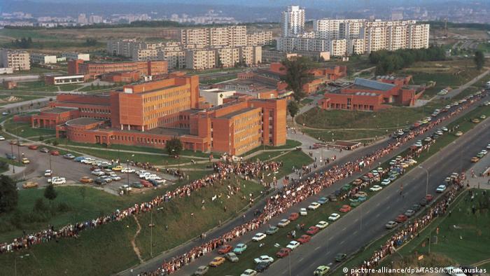 Акция Балтийский путь в Вильнюсе, 23 августа 1989 г.