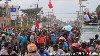 Indonesien Papua Proteste in Timika