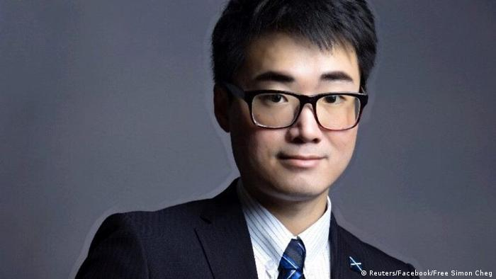 Simon Cheng, a staff member at Britain's consulate in Hong Kong