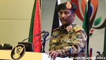 (190817) -- KHARTOUM, Aug. 17, 2019 -- Chairman of Sudan s Transitional Military Council (TMC) Abdel-Fattah Al-Burhan speaks during the signing ceremony of the political and constitutional declarations in Khartoum, Sudan, on Aug. 17, 2019. Sudan s Transitional Military Council and the opposition Freedom and Change Alliance on Saturday officially signed the political and constitutional declarations to mark beginning of the transitional rule in Sudan. ) SUDAN-KHARTOUM-TRANSITIONAL PERIOD DOCUMENTS-SIGNING MohamedxKhidir PUBLICATIONxNOTxINxCHN
