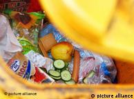 Los alimentos desechados en un contenedor de basura en Frankfurt