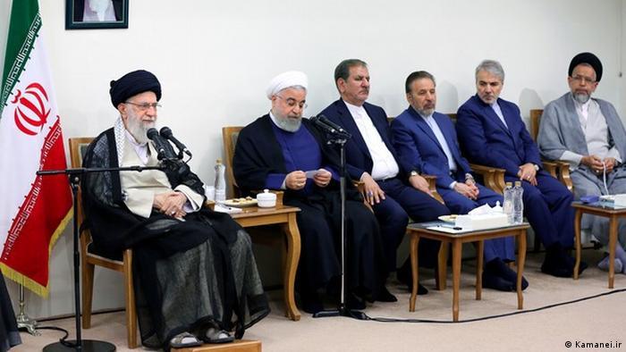 دیدار رهبر جمهوری اسلامی با رئیس جمهوری و اعضای هیئت دولت، چهارشنبه سیام مرداد ۹۸