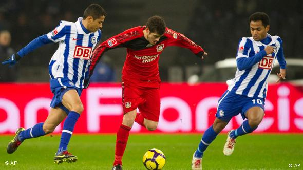 Flash-Galerie Bundesliga Hertha BSC Berlin gegen Bayer Leverkusen