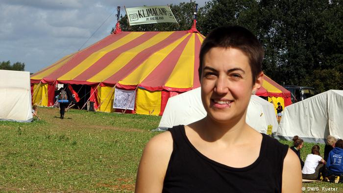 Jette Monberg Teilnehmerin vom Klimacamp in Erkelenz