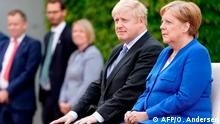 Berlin, Angela Merkel trifft Boris Johnson (AFP/O. Andersen)