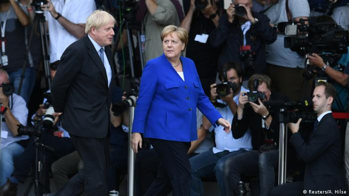 Berlin, Angela Merkel and Boris Johnson (Reuters/A. Hilse)