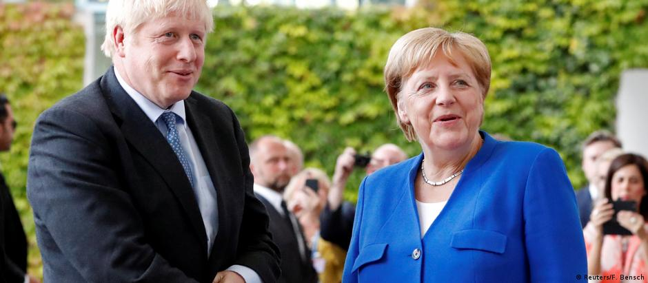 German Chancellor Angela Merkel meets British Prime Minister Boris Johnson in Berlin