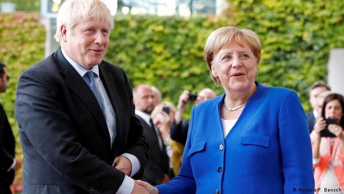 Berlin, Angela Merkel trifft Boris Johnson