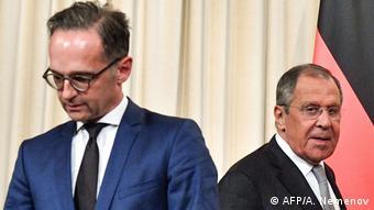 Хайко Мас и Сергей Лавров после встречи в Москве в августе 2019 года