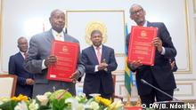The presidents of Rwanda and Uganda signed a pact on Wednesday (21.08) aimed at ending a long-runningmrivalry that led to conflict in the past and closed theirbusiest border crossing for the past six months. In the deal signed in the Angolan capital, the two sides agreed to respect each other's sovereignty, refrain from Actions that destabilize the other's territory, and resume as soon as possible cross-border activities, according to a copy of them agreement ....