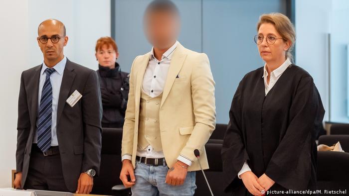 Sírio Alaa S, condenado por crime em Chemnitz, durante julgamento