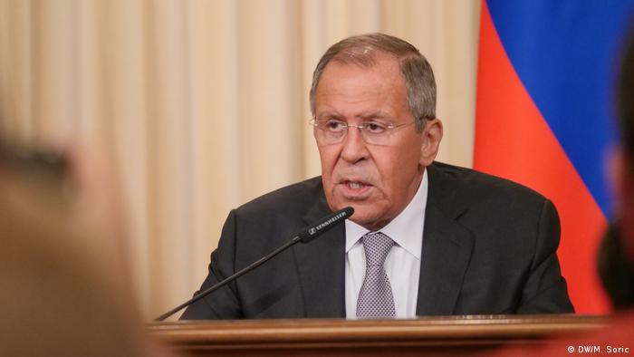 Russland Moskau Außenminister Heiko Maas bei Lawrow (DW/M. Soric)