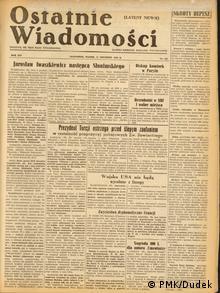 Cover der Wochenzeitschrift für polnische Immigranten Ostatnie Wiadomosci