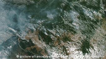 Παρακολούθηση των πυρκαγιών στα δάση του Αμαζονίου με τη βοήθεια δορυφορικών συστημάτων