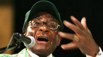 Zimbabwean President Robert Mugabe speaks at a ZANU-PF (Zimbabwe African National Union) gathering in Harare, Zimbabwe Friday, Dec. 11, 2009. Zimbabwe's president says infighting is destroying the party that has kept him in power for nearly three decades. (AP Photo/Str)