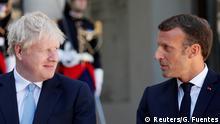 Frankreich Emmanuel Macron und Boris Johnson in Paris
