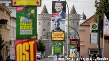 Wahlplakate zur Landtagswahl in Brandenburg
