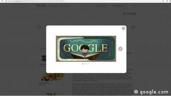Screenshot Google Doodle, Die unendliche Geschichte