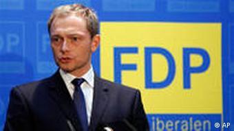 Генеральный секретарь СвДП Кристиан Линднер