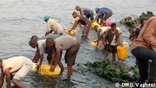 Goma | Menschen holen Wasser am Kiwusee