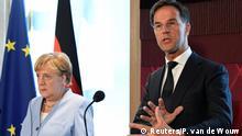 Niederlande PK Merkel und Rutte