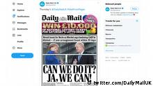 Screenshot Twitter Daily Mail | Angela Merkel & Boris Johnson