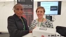Test zur DNA-Erkennung von Tätern Wangu Kanja und Lisa Smith
