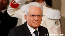 Italian President Sergio Mattarella arrives to speak with the media following a day of consultations at the Presidential Palace in Rome, Italy, August 22, 2019. REUTERS/Remo Casilli