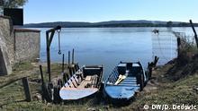 Grenzgebiet zwischen Rumänien und Serbien Donauufer in Moldova Veche