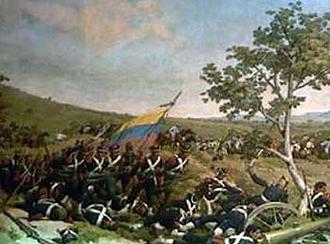 La pintura de Martín Tovar y Tovar (1881) alusiva a la Batalla de Carabobo, con la que se consumó la independencia de Venezuela.