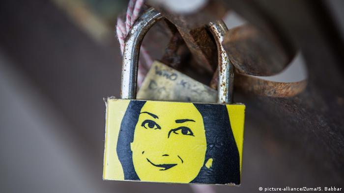 Malta Gedenken Daphne Caruana Galizia