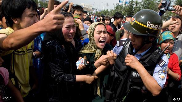 Unruhen in Xinjiang (Foto: AP)