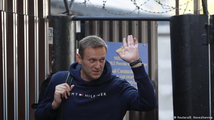 Алексей Навальный после очередного ареста.