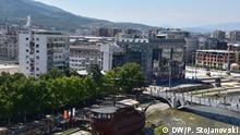 Skopje, Hauptstadt von Nord-Mazedonien Nordmazedonien