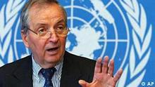 Klaus Töpfer bei der UNEP (Umweltschutzprogramm der UN) in Genf, Schweiz