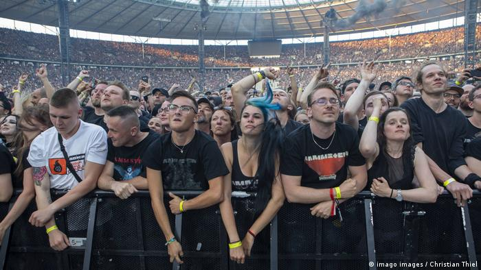 Fans at a concert in Berlin