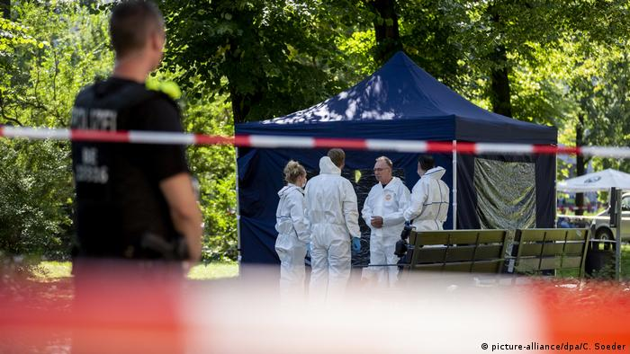 Investigators at the crime scene in Berlin