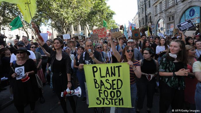 Prosteto reuniu dezenas em Londres, onde nasceu o movimento Extinction Rebellion