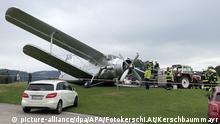 Österreich Flugplatz Gmunden-Laakirchen | Schaden an Propellermaschine des Typs Antonow 2