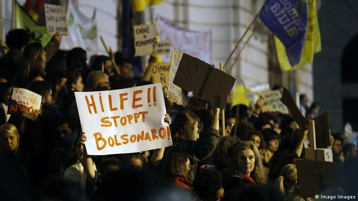Protest gegen Jair Bolsonaro Brasilien Rio de Janeiro
